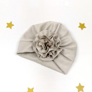baby-turban-mädchen-handmade-blume-sendoro-shop-lollipop-grau-velour-geschenk-eistüte-mädchen-partner-look