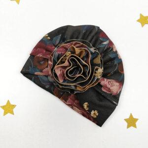 baby-turban-mädchen-handmade-blume-sendoro-shop-lollipop-blumen-schwarz-regensburg