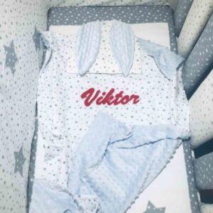babydecke-blau-weiß-sterne-dick-winterdecke-babybett-sendoro-shop-mit-namen