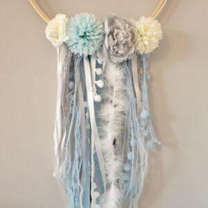 dreamcatcher-tanisha-traumfänger-handmade-mit-namen-personalisiert-sendoro-shop-lila-kinderzimmer-blau