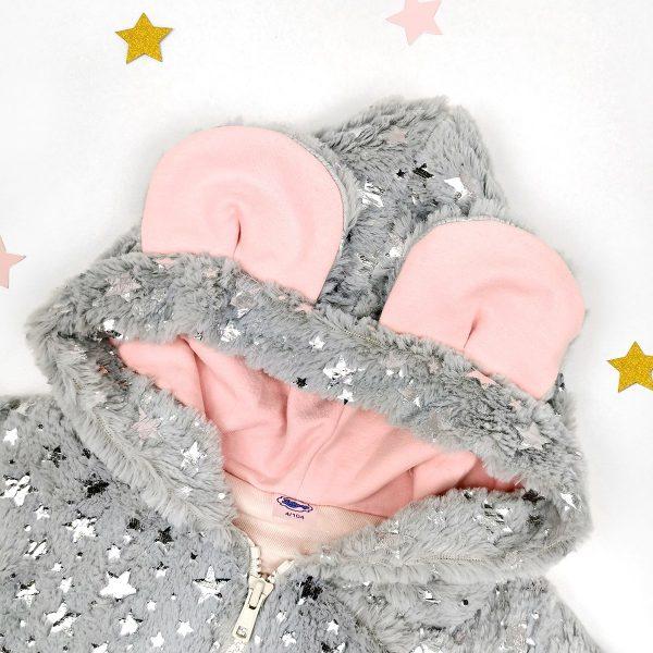 Sendoro-shop-jacke-baby-mädchen-grau-kunstfelljacke-mit-kapuze-warm-flauschig-frühling-lollipop-ohren