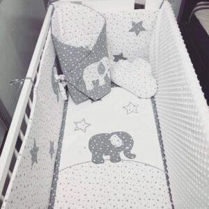 Bettwäsche-Bezug-für-die-Steppdecke-Handmade-sendoro-shop-weiß-grau-sterne-elefant