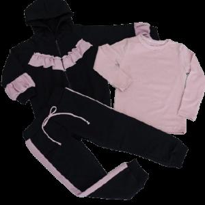 Trainingsanzug-Rüschen-Pink-hose-hoodie-body-shirt-mit-namen-wunschtext-sendoro-shop-rosea-schwarz-altrosa-preview-ohne-text