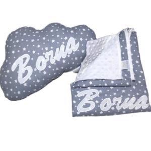 babydecke-minky-personalisiert-handmade-sendoro-shop-grau-weiß-sterne-kissen-1