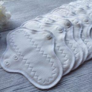 stoffbinde-baumwolle sendoro-shop-handmade-weiß-slipeinlage 20 cm-fabrics-brusan-design einfarbig set