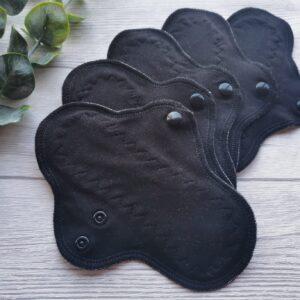 stoffbinde-baumwolle sendoro-shop-handmade-weiß-slipeinlage 20 cm-fabrics-brusan-design schwarz einfarbig